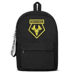 $enCountryForm.capitalKeyWord Australia - Watford F.C.The Hornets WFC yellow Free Shipping Women Men Canvas School Student Backpack Lightweight Travel Backpack Printing Back