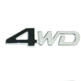 $enCountryForm.capitalKeyWord Australia - 3D Metal 4WD Four-Wheel Drive Car Sticker Emblem Badge for Universal Cars Moto Bike Decorative Accessories