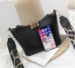 $enCountryForm.capitalKeyWord Australia - Fashion Women PU Leather Bucket Bags Black Brown Color Casual Shoulder Bags Wide Belt Ladies Handbags for girls 2019 Whole sale