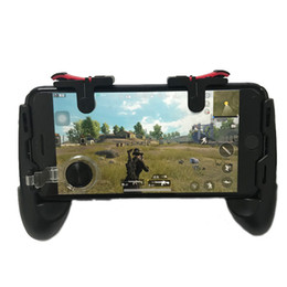 Game phones inch online shopping - Universal mobile phone game controller phone grip with joystick fire buttons Trigger for inch mobile phone Pubg Android IOS gamepad
