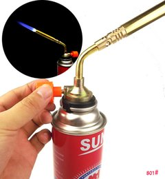 Oil stOves online shopping - Burner Blower Welding Outdoor Camping BBQ Brazing gas Torch lighter Flame gun for Kitchen Airbrush