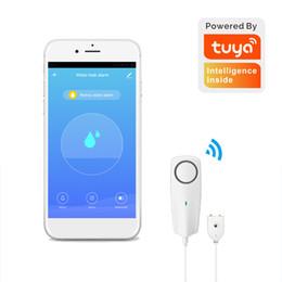 Wireless Water sensors alarm online shopping - Tuya Wifi Liquid Leak Sensor Wireless Water Level Detector Leakage Overflow Buzzer Sounding SmartHome App Push Alarm Alerts