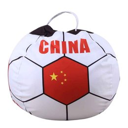 Discount adult world toys - Plush Toy Storage Bag Adult Soccer Fan Sitting Stool World Cup Football 32 Strong Travel Bedroom Parlor Storage Round Zi