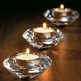 $enCountryForm.capitalKeyWord Australia - Wedding Candle Favors Crystal Glass Diamond Shape Heart Shape Tealight Candle Holder Bridal Shower Party Favors Gift Banquet Table Decor