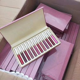 Dhl lipstick online shopping - Newest Hot Makeup Lipsticks Set set Luquid Matte colors Lip Gloss DHL shipping