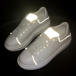 96d69628 Name shoes online shopping - 2019 Newest Reflective Designer Name Brand Man  Woman Shoes Flats Chaussure