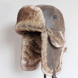 Ushanka Russian Hat Australia - Bomber Hats Winter Men Warm Russian Ushanka  Hat with Ear Flap 3fff62ced2d