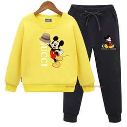 hoodie latest NZ - Hot sale Spring new boy girl Two-piece Suit Latest high quality casual Hoodie two piece set 031615
