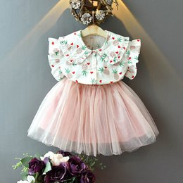 Sweet Tutu Australia - New 2019 sweet kids summer clothes girls suits shirt+tutu skirt kids designer clothes girls Outfits Fashion kids sets girls clothes A5649
