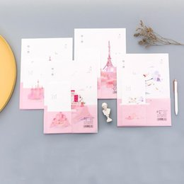 China 9 Pcs pack Kawaii 3 Envelopes+6 Sheets Letters Travel World Journey Paper Envelope Letter Set Stationery Writing Gifts Supplies cheap world stationery suppliers
