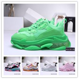 $enCountryForm.capitalKeyWord Australia - box Men Women designer Casual Shoes Cushion Triple S Dad Shoes Mixed Colors Thick Combination Nitrogen Outsole Cryst.
