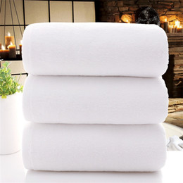 $enCountryForm.capitalKeyWord NZ - Free Shipping 70*140cm Wholesale cotton hotel bath towel beauty salon white thick large bath towel washable