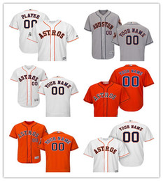 a3409c820 Men's Houston Astros Majestic Home White Alternate Orange Road Gray Flex Orange  Cool Base Authentic Collection Custom Jersey