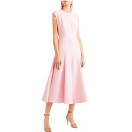 1c3d0723fe Drape tank Dress online shopping - high quality Women Summer Dress Casual  Office Pink A Line