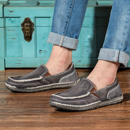 $enCountryForm.capitalKeyWord Australia - MUQGEW Canvas Breathable lazy shoes for men Casual slip-on Comfortable flats sneaker classics Lightweight Non-Slip loafers men
