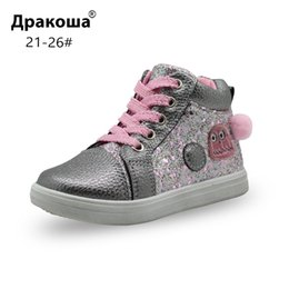 $enCountryForm.capitalKeyWord NZ - Apakowa Girls Fashion Ankle Boots Toddler Kids Children's Spring Autumn Anti-slip School Shining Casual Shoes With Arch Support Y19051303