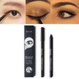 Brown gel pens online shopping - IMAGIC Waterproof Eye Liner Pen Cosmetic Beauty Makeup Set Black brown Eyeliner Gel Long Lasting Eyeliner Pen DHL free