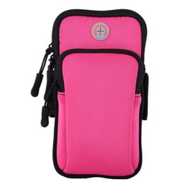 Women Men Holder Sports Running Fitness Anti Slip Gym Elastic Exercise Reflective Practical Armband Side Pocket Phone Pouch Mobile Phone Accessories