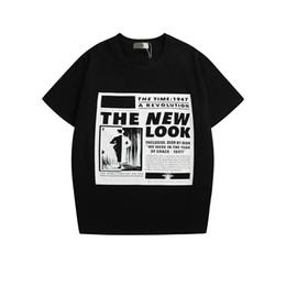 Hollow Pipe UK - 19ss Dr new mens women designer tshirts luxury European American pop Classical newspaper shirt spring hot shirt fashion stylish shirts