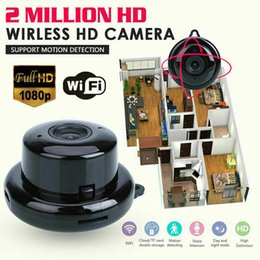night vision infrared NZ - IP Camera Wifi Mini HD1080P Home Security Wireless Small CCTV Infrared Night Vision Motion Detection SD Card Slot Audio V380 APP