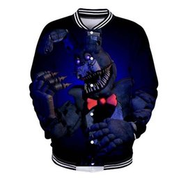 Nights Freddy S Clothes Australia - Hot sale Five Nights at Freddy 3D printing Casual Kawaii Baseball Jacket 2018 Autumn Women Men Popular Fashion Baseball Clothing