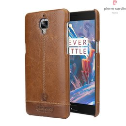 867f7c60fc9 Original Pierre Cardin Case For OnePlus 3T 3 T Three Luxury Phone Case  Genuine Leather Hard Slim Back Cover For One Plus 3T 3
