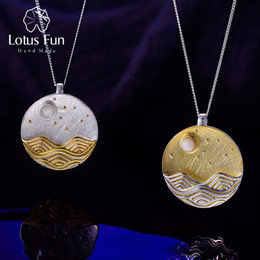 $enCountryForm.capitalKeyWord Australia - Lotus Fun Real 925 Sterling Silver Handmade Natural Fine Jewelry The Moonlight Design Pendant Without Chain Acessorios For Women Y19061203