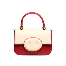 $enCountryForm.capitalKeyWord Australia - The Design Nose Of A Pig You Summer Day Concise Hit Color Chain Packet Western Style Single Shoulder Piggy Package