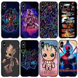 Discount superman iphone cases - Marvel Superman Avengers Phone Case for iPhone X XR XS Max 5 6s 6 7 8 Plus Ironman TPU Designer Phone Cover