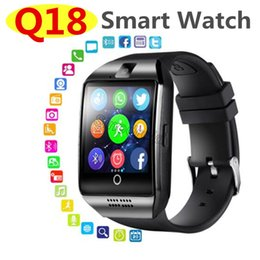 Wholesale Bluetooth Smart Watch Q18 With Touch Screen Big Battery Support NFC SIM Card Camera for Android Phone Wristwatch Smartwatches