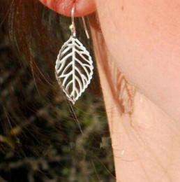 Discount sterling silver flower earring hooks - Hot New Hollow Statement Gold Big Leaf Drop Earrings Hook Earrings Long Jewelry Dangle Earrings for Women Party Gift E03