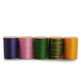 Shoes Repair Australia - 0.45mmX160m Leather Sewing Waxed Thread Per Spool Stitching Thread for Leather Craft DIY Bookbinding  Shoe Repairing Leather Projects