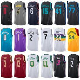 2019 Basketball Jersey City Edition Damian 0 Lillard Victor 4 Oladipo  Kristaps 6 Porzingis Kemba 15 Walker Dirk 41 Nowitzki Luka 77 Doncic 2065a0f4c