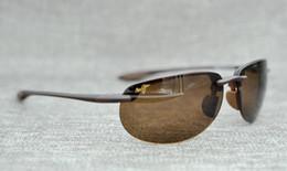 749e0542b9f Brand designer maui jim sunglasses mj414 rimless 414 Uv protection luxury  men women driving outdoor polarized sunglasses with mj case