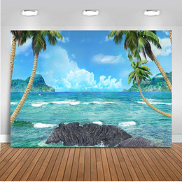 $enCountryForm.capitalKeyWord NZ - Neoback summer holiday backdrop for photography blue sky and sea photo background Frozen birthday theme party decoration 494