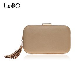 $enCountryForm.capitalKeyWord Australia - LUCDO Fashion Tassel Small Clutch Bag Female Evening Bags Woman Wedding Velvet Soft Material Party Hand Bags Women Shoulder Bag