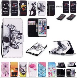 $enCountryForm.capitalKeyWord Australia - Retail Cartoon skull and colored leather Wallet Case Card slot PU+TPU Phone Cover Cartoon Cases For iPhone 4 5 6 PLUS Touch5 6 FOR SAMSUNG