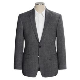 Beige Slim Suits For Men Australia - New Dark Grey Wedding Tuxedos 2019 Slim Fit Best Man Suit For Wedding Men's Suits Business Wear Suit Separates Jacket Custom Made
