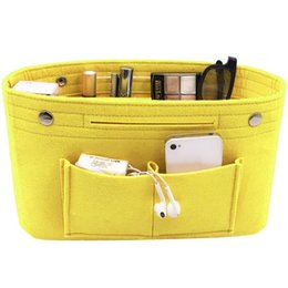chemical cosmetics Australia - Portable Cosmetic Bag Travel Multi-grid Makeup Pack Wool Chemical Fiber Toiletry Pack Multifunctional Storage Organizer