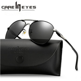 SunglaSSeS police online shopping - Luxury Men sunglasses famous designer high quality Driving sun Glasses for men UV400 police Eyewear Brand sunglasses with cases box CE6611 A