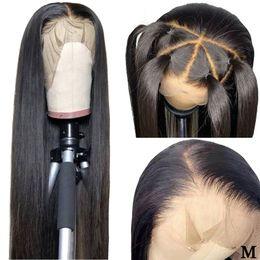 Toptan satış 360 Dantel Frontal Peruk Öncesi Mızraplı Doğal Saç Çizgisi% 150 Yoğunluk Orta Oran Perulu Düz Remy Dantel Frontal İnsan Saç Peruk
