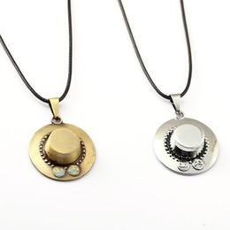 Necklaces Pendants Australia - ONE PIECE Necklace Ace Hat Pendant Necklace Fashion Men Women Anime Jewelry Choker Accessories YS11448