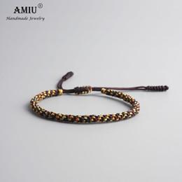 $enCountryForm.capitalKeyWord Australia - Tibetan Buddhist Lucky Charm Tibetan Bracelets & Bangles For Men Handmade Knots Nylon Thread Red Rope Bracelet