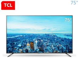 TCL 75-inch large-screen all-metal AI artificial intelligence speech TV ultra hd 4K+32 core high-performance ultra-thin TV free shipping!