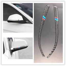 $enCountryForm.capitalKeyWord Australia - Carbon Fiber Rearview Mirror Sticker Anti-Rub Strips Protector for bmw F30F34F35 2013-2018styling Anti-collision car accessories