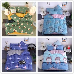 rabbit print duvet Australia - Beautiful Lovely Bedding Set King Twin Queen Size with Cute Rabbit Bed Cover Suit 2 3pcs for Kids of Quilt Cover Set