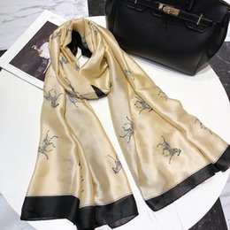 Scarf Shops Australia - New spring and autumn silk scarf sales lady scarf fashion geometric patterns wholesale gifts 180x90cm, free shopping