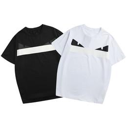 1acf13ed32a6 Mens Designer T Shirts Fashion Monster Emoji Brand Tees for Summer Black  and White Summer Short Sleeve T Shirt