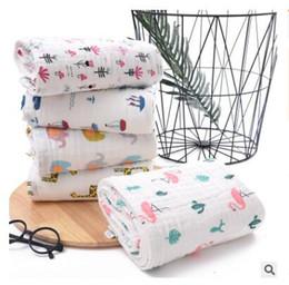 $enCountryForm.capitalKeyWord Australia - Giraffe Baby Bath Towels Flamingo Cotton Blanket Flower 6 Layers Newborn Baby Towels Soft Water Absorption Baby Care Towel for Girls Boys