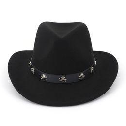 43880331e63 Destry Wool Western Hat Wool Panama Hats Woolen Jazz Church Hats Men Women  Cowboy Western Caps Wide Brim Sombrero Fedora Trilby Cap